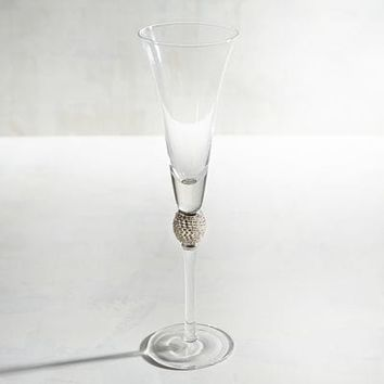 Jewel Silver Champagne Flute
