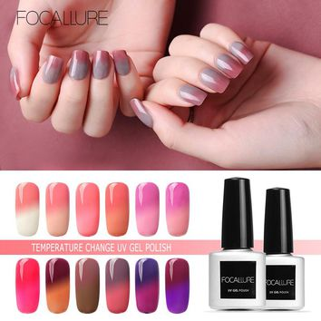 FOCALLURE Nail Gel Polish Temperature Change Nail UV Gel Polish Nail Gel Varnish Tools