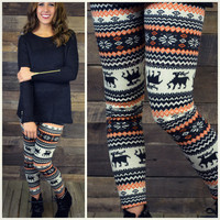 Hallows Eve Fleece Winter Print Sweater Leggings - One