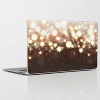 Stars Can't Shine Without Darkness sparkly lights stardust and fireworks art Laptop & iPad Skin by Bad English Cat