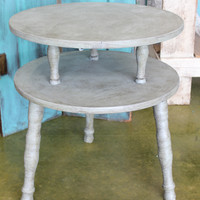 Vintage Layered End Table