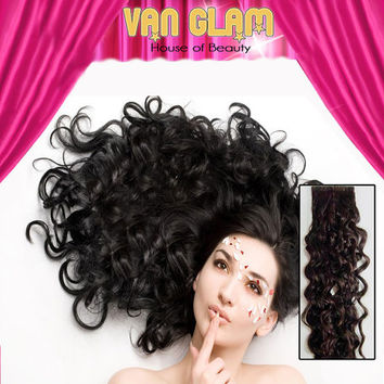 """22"""" Naturally Curly Clip In Hair Extensions"""