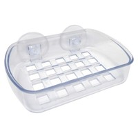InterDesign Plastic Soap Dish with Basic Suction Cups Clear