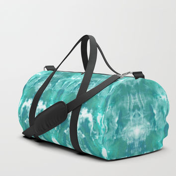 Aqua Blue Lagoon Duffle Bag by ninamay