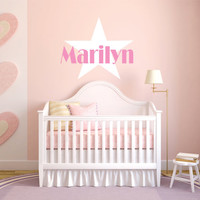 Personalized Wall Decal, Hollywood Star, Baby Nursery Decal, Nursery Name Decal, Star Decal, Girl Name Decal, Hollywood Celebrity