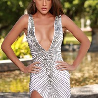 MORIN DRESS IN WHITE WITH SILVER - MORE COLORS