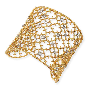 Gilded Muse d'Ore Crystal-Studded Cuff Bracelet - Alexis Bittar