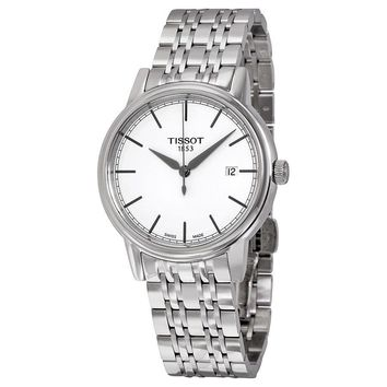 Tissot T-Classic Carson White Dial Stainless Steel Mens Watch T0854101101100