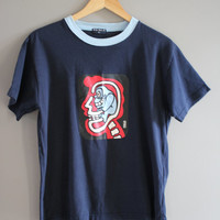 Free US Shipping Skull X-Ray / Graphic Tee  / Vintage / Size S- M