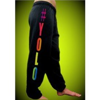 #YOLO Neon Sweatpants (Leg)