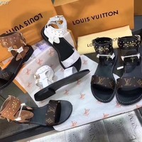 """LV"" Latest Rivet Sandals"