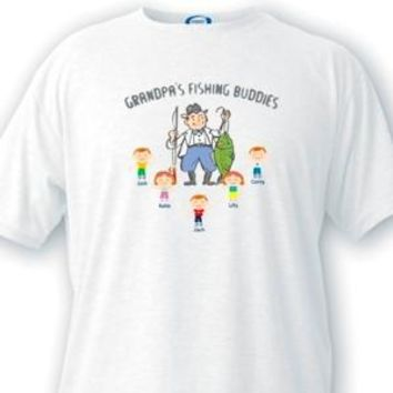 Fishing Buddies Grandpa T-shirts