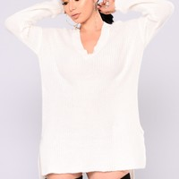 Camille Oversized Sweater - Ivory
