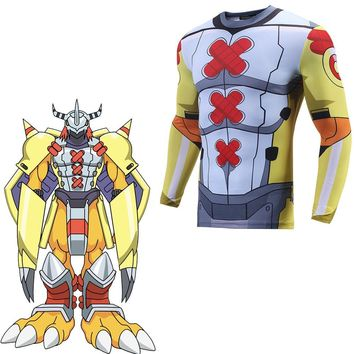 Digimon Adventure War Greymon Cosplay Costume 3D Print T-shirt Japanese Anime Digital monster 3D Printed T-shirt  Clothes