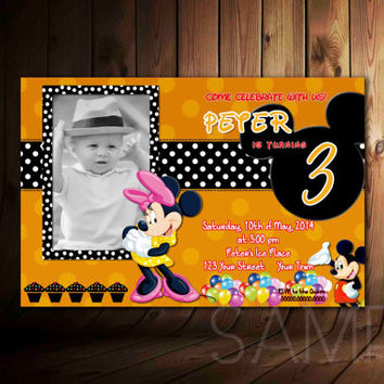 DIY Minnie Mouse Design For Birthday Invitation