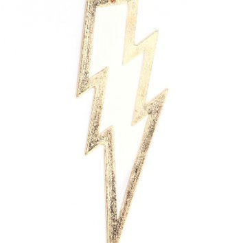 Lightning Bolt Necklace Retro Zap Flash Storm White Gold Tone NJ34 Retro Pop Pendant Fashion Jewelry