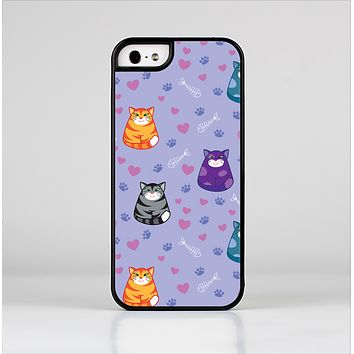 The Light Purple Fat Cats Skin-Sert for the Apple iPhone 5-5s Skin-Sert Case
