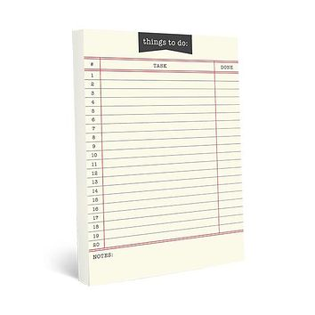 Library Card Large Notepad
