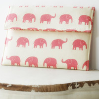 Kindle Sleeve| iPad Case|Tablet Case|Laptop Case|Macbook Case in Pretty Pink Elephants