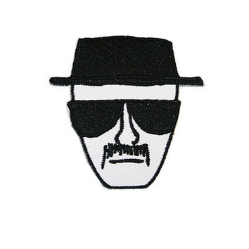 Heisenberg Iron On Patch Embroidery Sewing DIY Customise Denim Cotton Breaking Bad Walter White