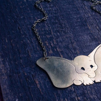 Dumbo necklace, Disney dumbo necklace, Disney elephant pendant, Dumbo jewelry, Women necklace, Gift idea, FREE SHIPPING