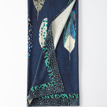 Christian Lacroix Quill Cobalt Throw Blanket | Neiman Marcus