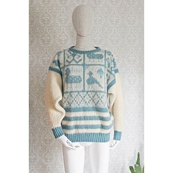 Vintage Icelandic  Wool Sweater