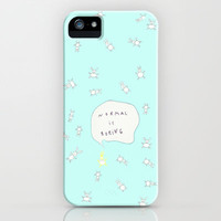 NORMAL IS BORING MINT iPhone & iPod Case by M✿nika  Strigel