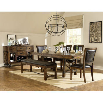 Homelegance Urbana Dining Table In Burnished