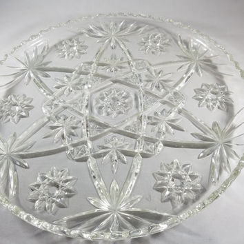 Crystal Clear Vegetable and Desert Glass Tray  (1009)