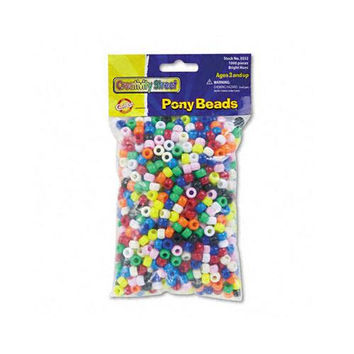 Pony Beads Assorted Bright Colors 1000 Beads