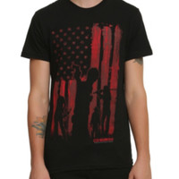 The Walking Dead Bloody Flag T-Shirt