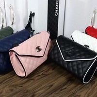 """Chanel"" Simple Fashion All-match Metal Chain Single Shoulder Messenger Bag Women Small Square Bag"