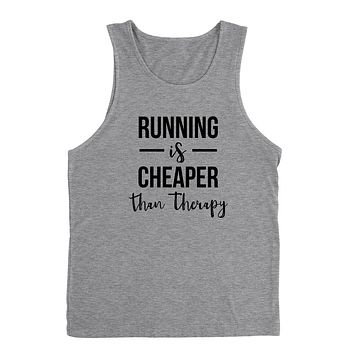 Running is cheaper than therapy workout gym fitness yoga graphic Tank Top