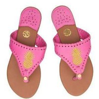 "Simply Southern ""Gold Pineapple"" Sandals SALE"