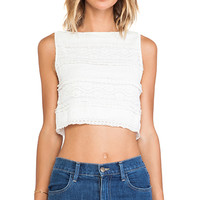 Alice + Olivia Crop Top in Cream