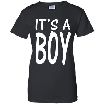 It's A Boy Blue Boy Baby Shower Adoption Gender Reveal Shirt cool shirt