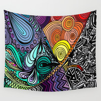 Extrovert Wall Tapestry by DuckyB (Brandi)