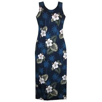 hilo hawaiian long tank dress