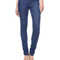 Indigo Jacquard Skinny by Juicy Couture