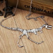 "1Pcs Coolest Jewelry 5""X4""Linked Dinosaur Fossil Pendant 22""Necklace EB87"