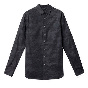 tiger spruce camo button up shirt | wings + horns
