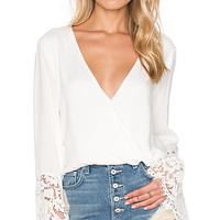 Holiday Fiesta Top in White
