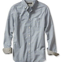 Banana Republic Mens Slim Fit Tri Gingham Oxford Shirt