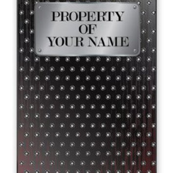 Custom DIY Personalized Men's Industrial Steel Plate Image w/Your Name Monogram Apple iPhone 5C Quality Hard Snap On Case for iPhone 5c/5C - AT&T Sprint Verizon - White Case
