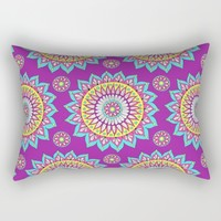 Colorful Mandalas Rectangular Pillow by Sarah Oelerich