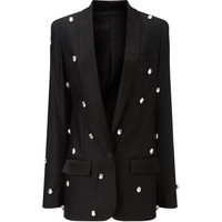 Racil Black Diamante Bling Soho Jacket