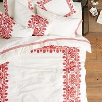 Coyuchi Aari Embroidered Duvet