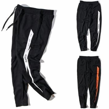 Men's Fashion Winter Alphabet Print Sports Pants [41310355475]