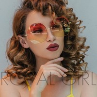 ROYAL GIRL Stylish Rimless Sunglasses Women Oversize Square Shape Classic Designer Glasses ss919